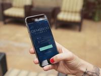 Demigod Fitness Mobile App Login Screen Iphone Irl Mockup