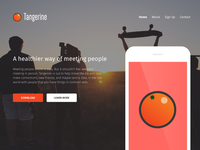 Tangerine App Landing Page Draft Concept - Home Page
