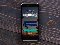 Caliboard Mobile App Login Screen