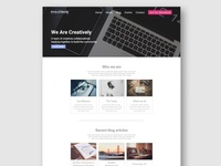 Creatively Landing Page Concept