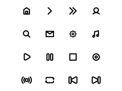 Minimalistic Music App Icon Set