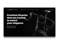 LUXWHEELS Landing Page UI | Header