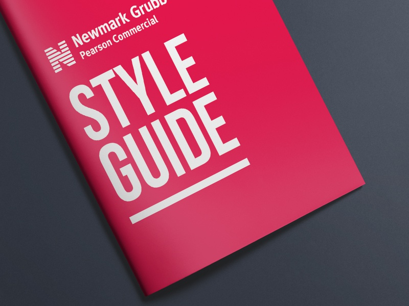 Newmark Grubb Pearson Commercial Style Guide commcercial style guide branding real estate