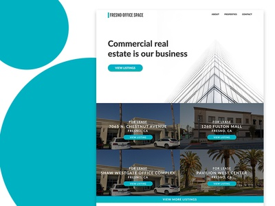 Fresno Office Space Landing Page - Desktop