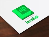 Level up logo stamp mockup