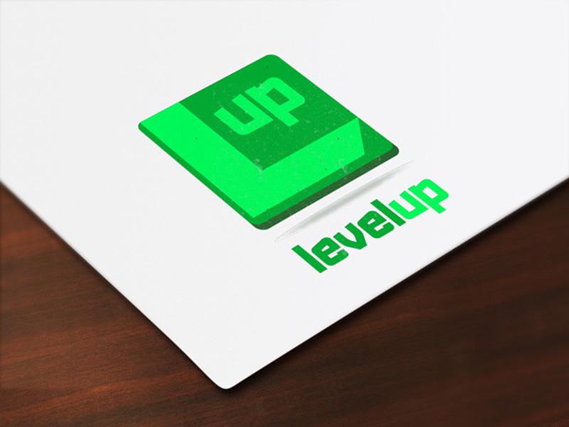 Level Up Logo Concept logo