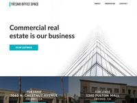 Fresno office space landing page desktop