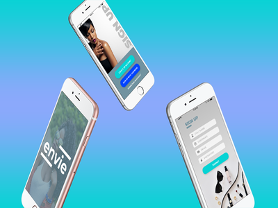 Envie Mobile App | Daily UI Challenge 001: Sign Up