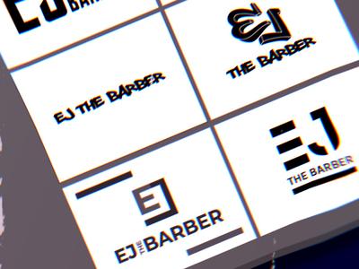 EJ the Barber Logo Concepts