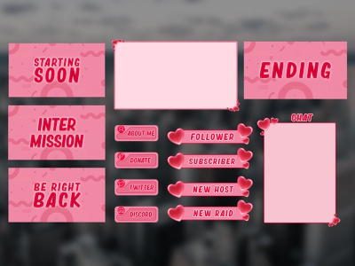 Twitch Overlay Package design graphicdesign twitch logo overlay twitch.tv twitchemotes twitchscreens screens twitchoverlay twitch