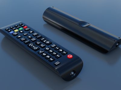 3D TV Remote Control cycles blender control remote tv