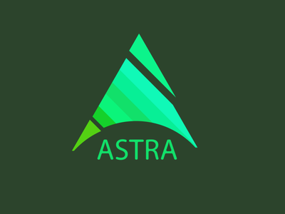 Logo ASTRA flat icon vector minimal logo graphic design design illustration