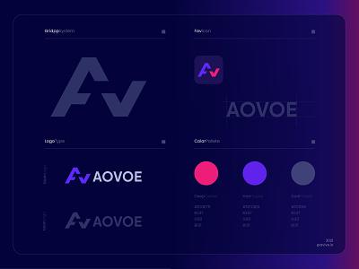 A+ V  AOVOE LOGO aovoe log aovoe log v logo alogo av logo illustration design branding logo design logo designer logo