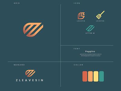 Zleavesin logo Design illustrator badge design illustration design branding logo design logo designer logo