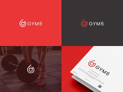 8  GYM6 gym logo illustrator badge logo illustration design branding logo design logo designer logo