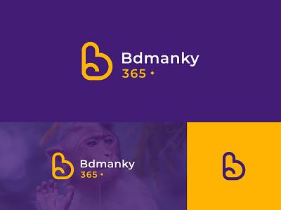Bdmanky Logo badge logo illustration design branding logo design manky logo b logo logo designer logo