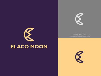 Elaco moon Logo e letter logo c letter logo illustrator design branding logo design logo designer logo