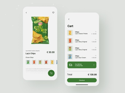 Lay's Mobile concept chips potato product app lays baby food mobile ui product page foodie uiux shopping apps product design product ios mobile app mobile ux ui trendy design