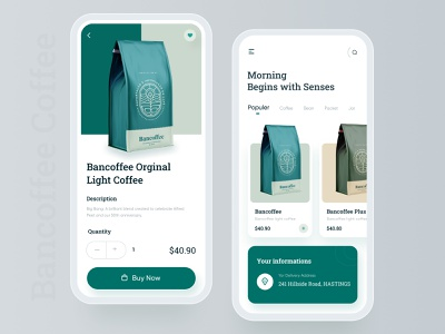 Coffee Shop Mobile App packaging ux product design coffe cafe order food drink buy shop store ecommerce app mobile app ui espresso welcome iphone iphone x menu