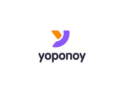 yoponoy Logo logos logotype minimal company y logo yoponoy logo brand branding identity app icon letter design typography logo designer icon letter logo print logo design cargo logo