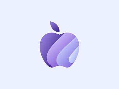 Apple logo sea wave brand mark simple modern sunset branding logo illustration identity brand identity logo design logo mark logos icon symbol print apple