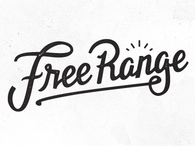 Freerange type logo free range texture logo-type outdoor working-not-working