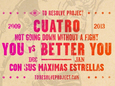 To Resolve Project Cuatro lucha libre type poster illustration wrestler again