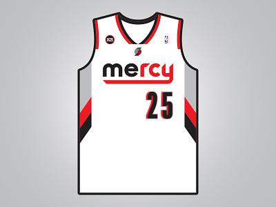 Mercy Mercy Jerome Kersey basketball blazers jerome kersey 25 rip