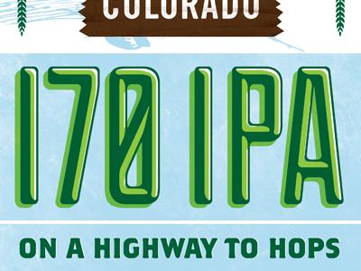I-70 IPA type texture colorado motto signage hops