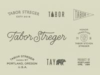 Tabor Streger oregon portland birth son streger tabor tree bear logos