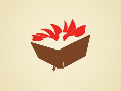 Critiq logo mark pages open-book bird phoenix critique rise negative-space