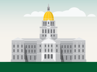 Colorado state capitol building illustration building colorado state capital vector clean denver map home