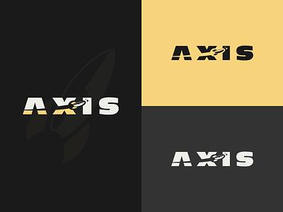 Axis Logo logobook flat dailylogo logochallenge day 1 logo challenge space rocket ship rocket illustrator logo design axis logo vector dailylogochallenge