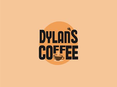 Dylan's Coffee Logo dylanscoffee coffee dailylogochallenge logo logodesign illustrator logochallenge dailylogo vector flat