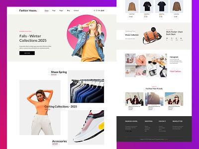 Fashion House Website fashion website traveling website ecommerce website ui website design wordpress web design graphics design ux design web design ui design responsive web design app design