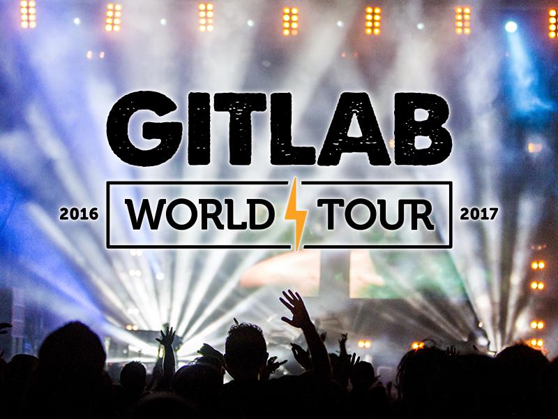 GitLab World Tour rock n roll branding open source typography world tour remote design gitlab git