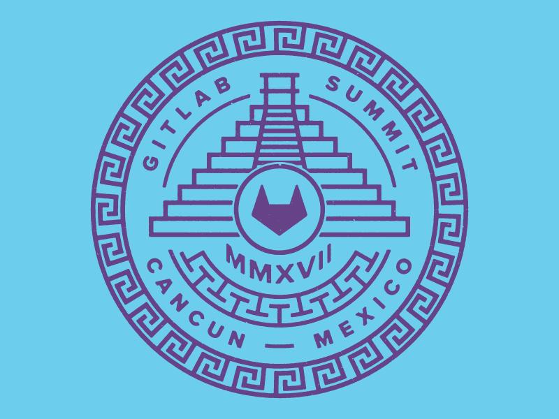 Gitlab Team Summit 2017 — Cancun, Mexico 2017 typography illustration team summit cancun swag design mexico gitlab git