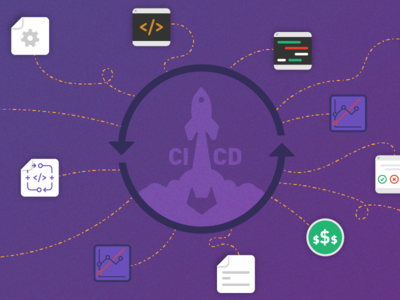 Gitlab's Continuous Everything Webcast social ad tech icons illustration deployment continuous integration ci gitlab git webcast