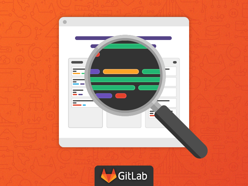 GitLab Code Review Webcast icons social ad branding development illustration code review review code gitlab git webcat