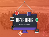 GitLab is hiring! Web/UX Designer (remote)