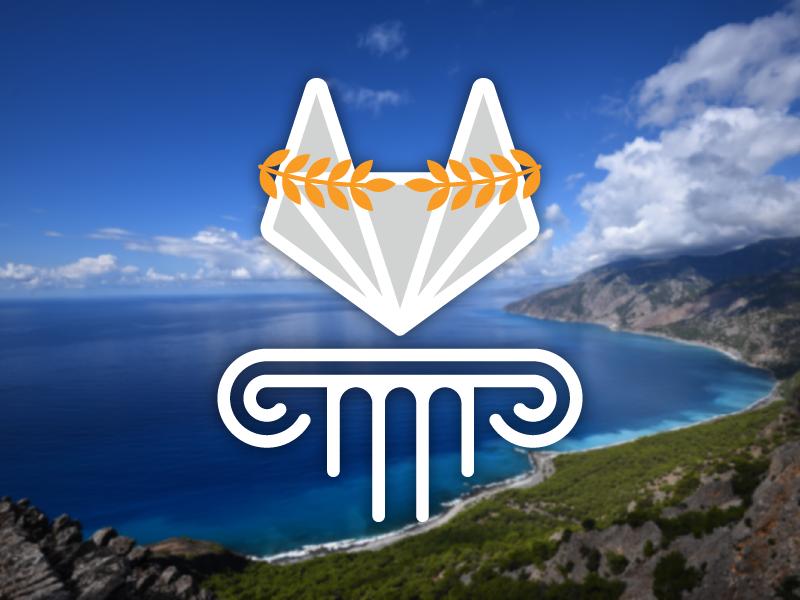GitLab Fall 2017 Summit — Crete, Greece logo illustration greek crete greece gitlab git