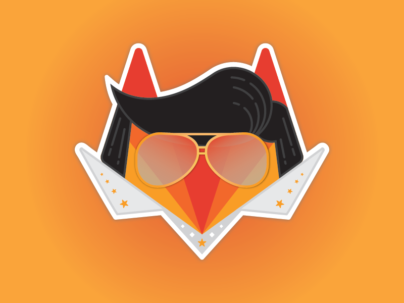 GitLab (and Elvis) at AWS re:invent 2017 vegas conference swag booth sticker illustration elvis amazon aws gitlab git