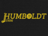 #HumboldtStrong illustration typography tee t-shirt charity strong humboldt hockey