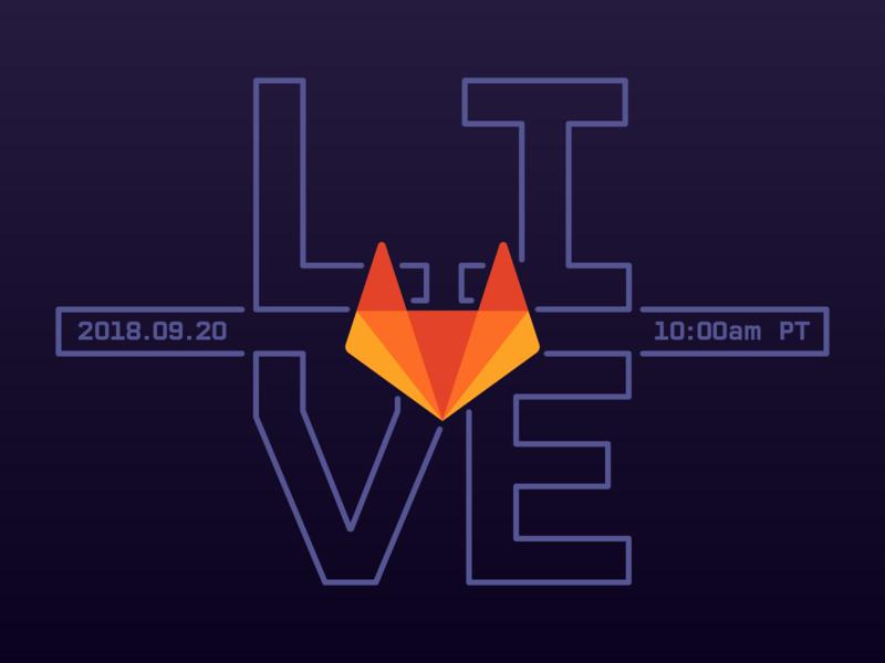 GitLab Live branding web animation typography devops gitlab git