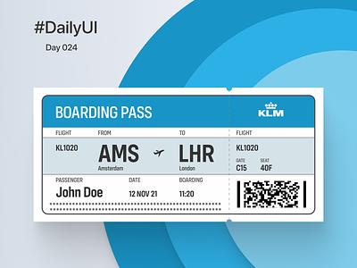 Daily UI #024  -  Boarding Pass dailyuichallenge ui dailyui-012 dailyui