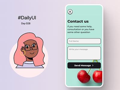 DailyUI_028 - Contact us ui ux dailyuichallenge dailyui-012 dailyui