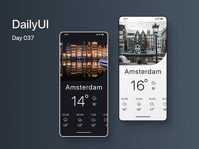 Daily UI 037: Weather dailyui-012 ui dailyuichallenge dailyui