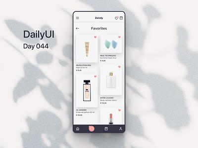 DailyUI - Day_044: Favorites dailyui-012 dailyuichallenge ui dailyui