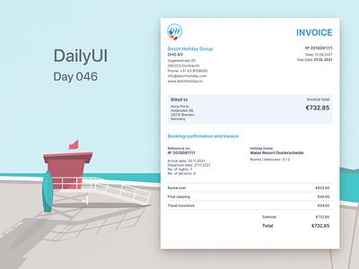 Daily UI #046 - Invoice dailyui-012 dailyuichallenge ui dailyui