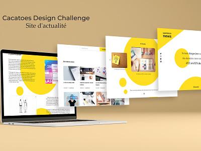 Cacatoès Design Challenge - News website newsfeed news newspaper cacatoes challenge cacatoes adobe xd ui ui design challenge designer design